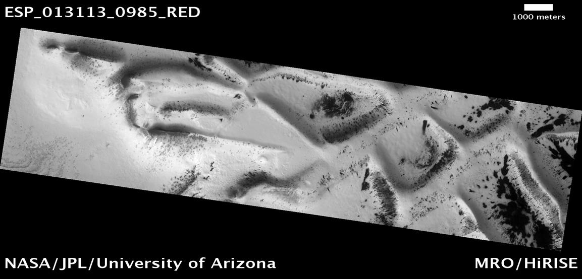 Las estructuras alveolares misteriosas en Marte