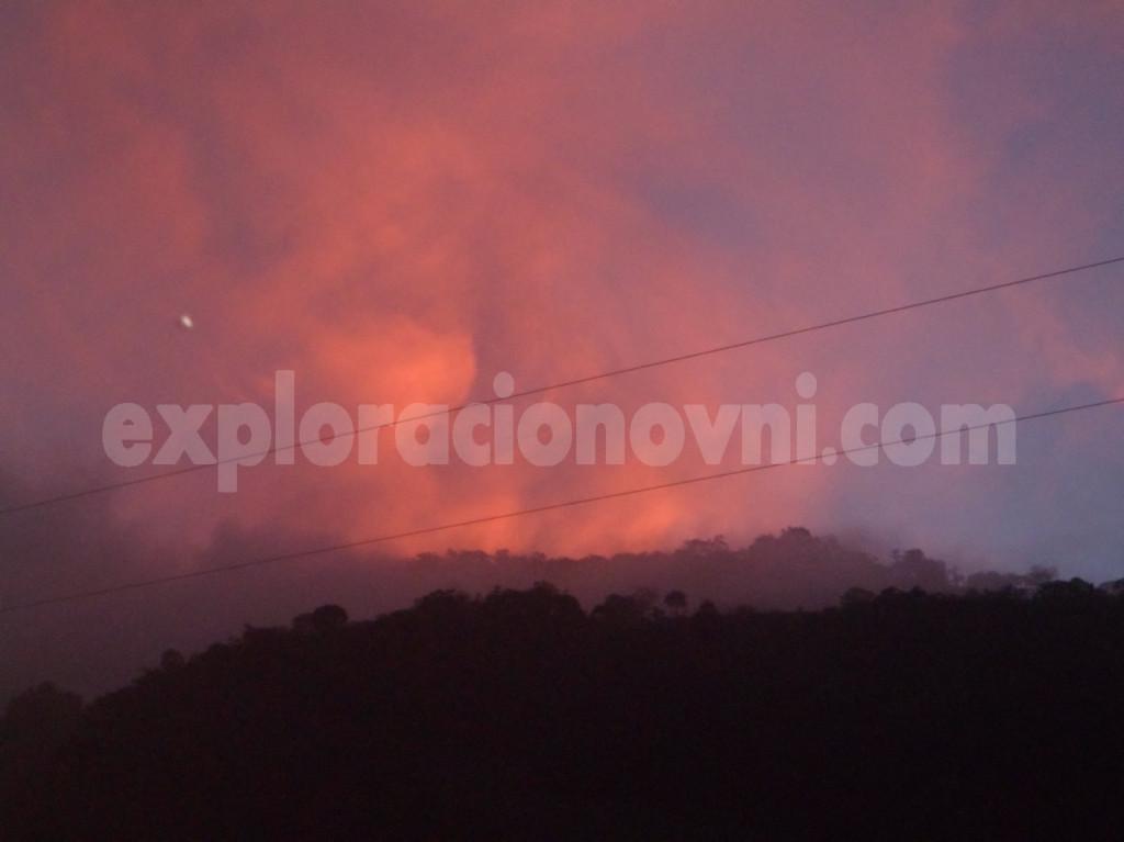 Avistamiento OVNI sobre el estado de Tachira en Venezuela.