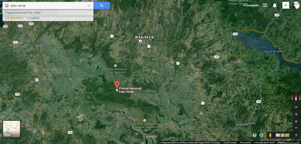 Parque Nacional de Palo Verde, a un kilómetro del pueblo de Bagatzi, lugar donde ocurrieron los hechos