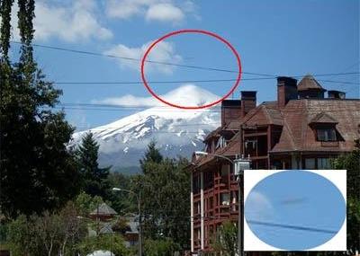 Otro caso OVNI en el volcán Villarica (2009)