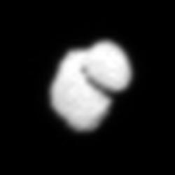 Comet 67P/CG, tomado el 14 de julio de 2014 - vista procesada. Créditos: ESA / Rosetta / MPS para OSIRIS equipo MPS / UPD / LAM / IAA / SSO / INTA / UPM / DASP / IDA