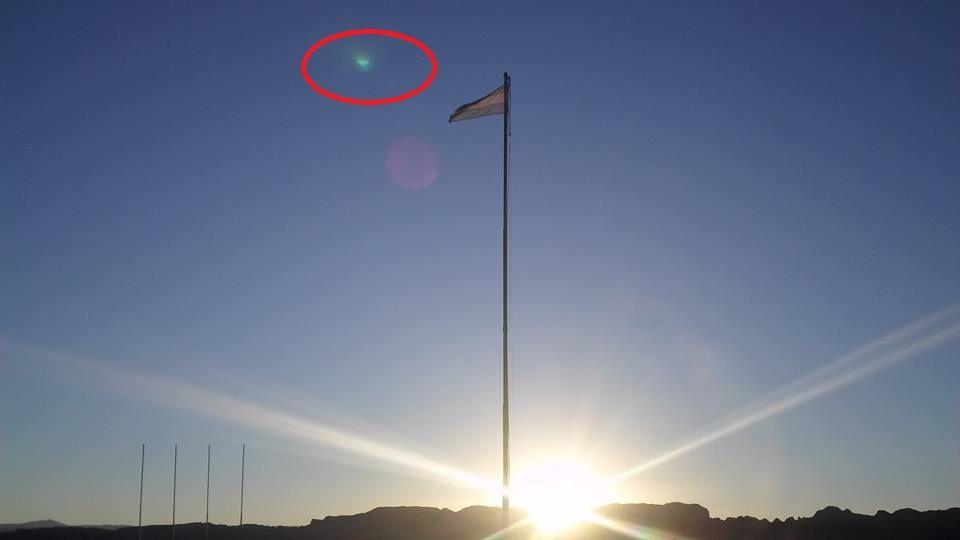 Fotografía del que se dice fue el avistamiento en Valle Fértil