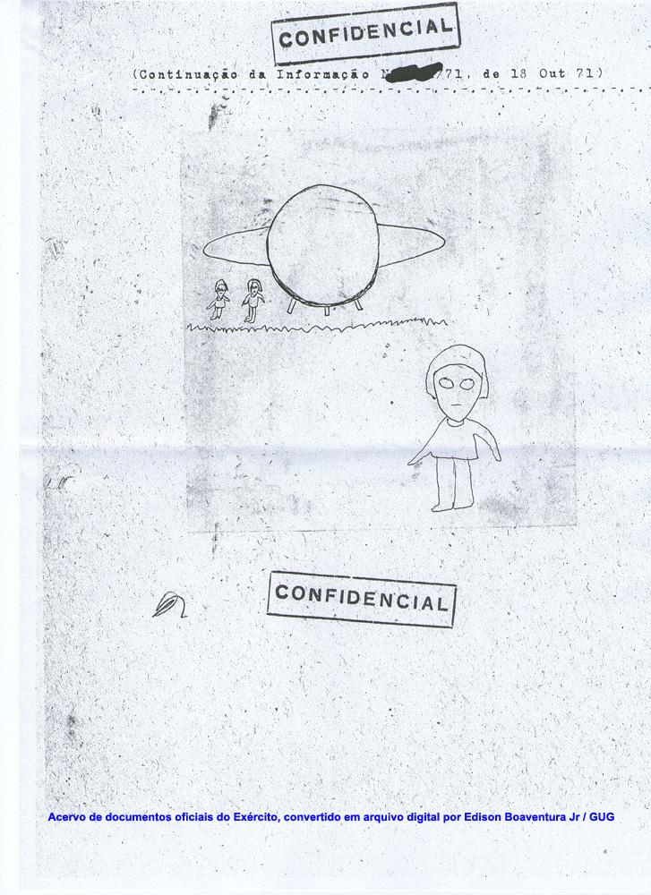 Boceto realizado por el testigo
