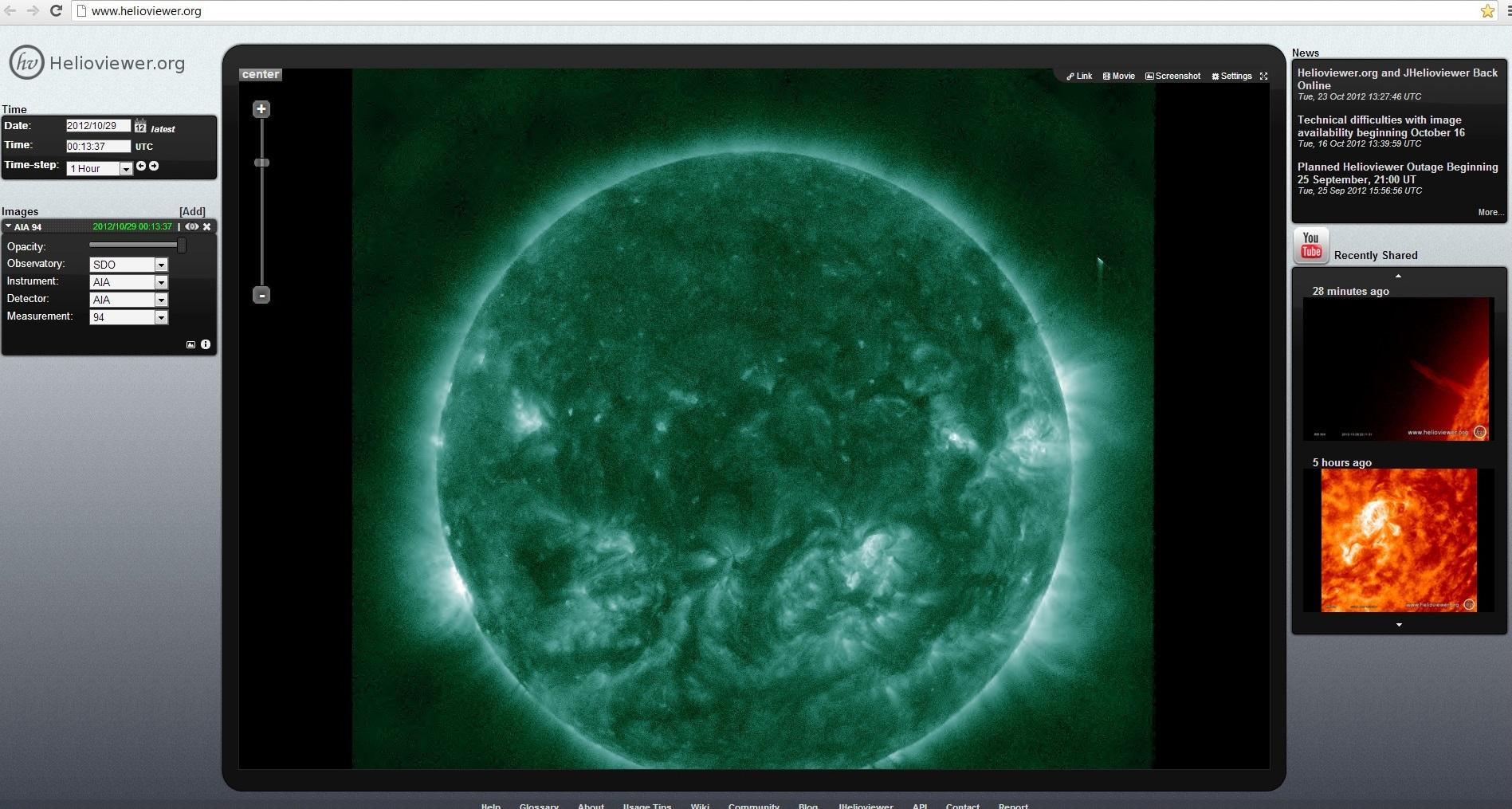 Objeto anómalo aparece en una toma del SOHO Helioviewer