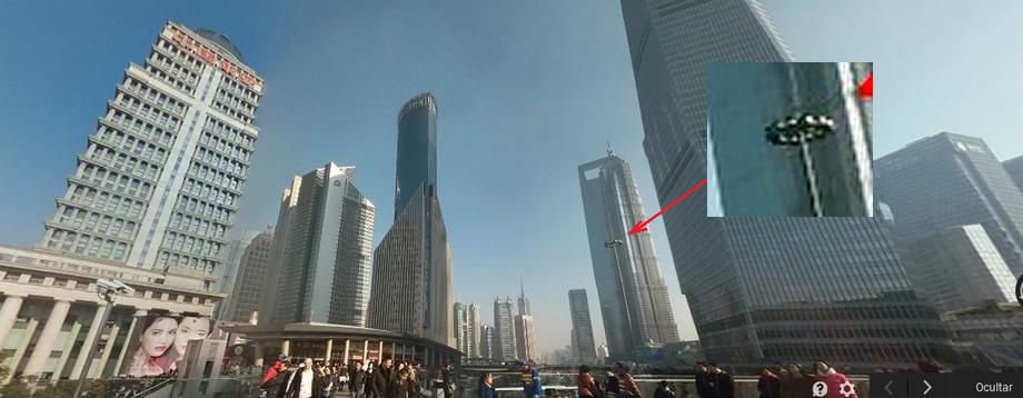 Resuelto el misterio: El supuesto OVNI en Shanghái era una torreta de luz.