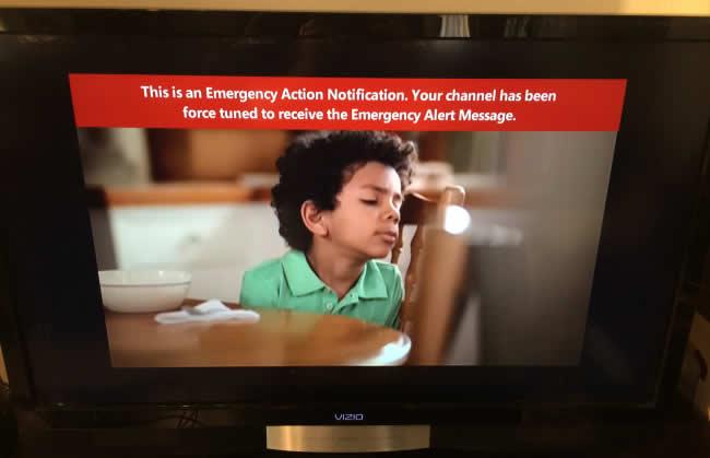 Mensaje de alerta de emergencia reportado por usuario